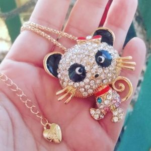 Betsey Johnson mouse necklace